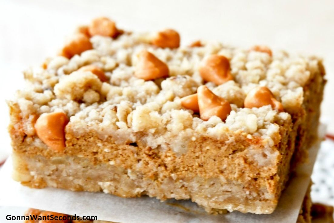 Pumpkin Pie Bars on a plate