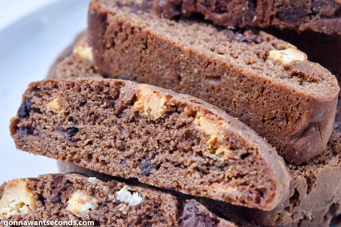 Chocolate Biscotti recipe on a plate