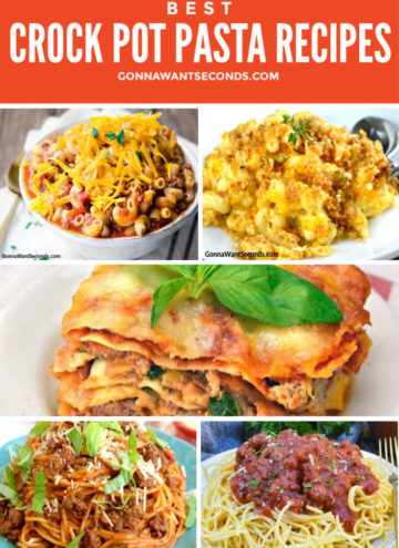 Crock Pot Pasta recipes montage, round up