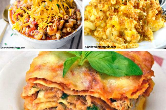 Crock Pot Pasta recipes montage, round up