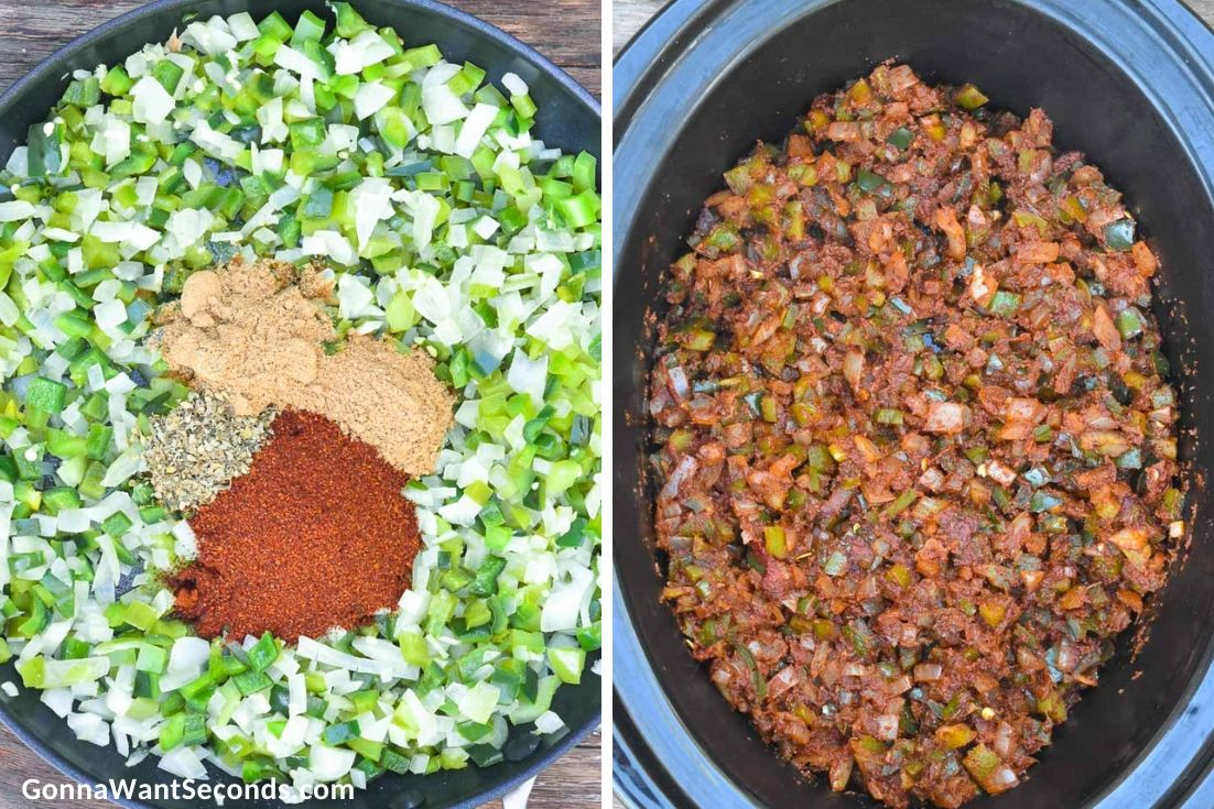 How to make Crockpot Chicken Chili, adding ingredients in the crockpot