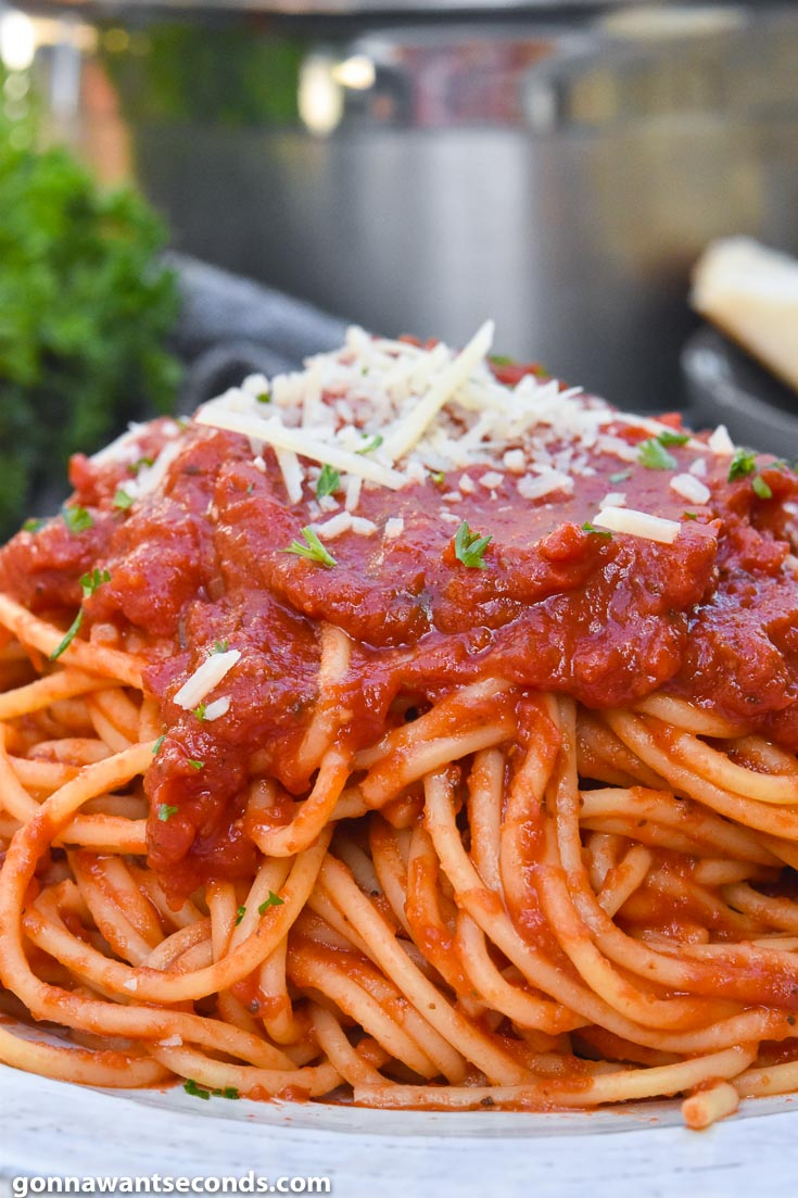 Italian Spaghetti Made W Simple Ingredients Gonna