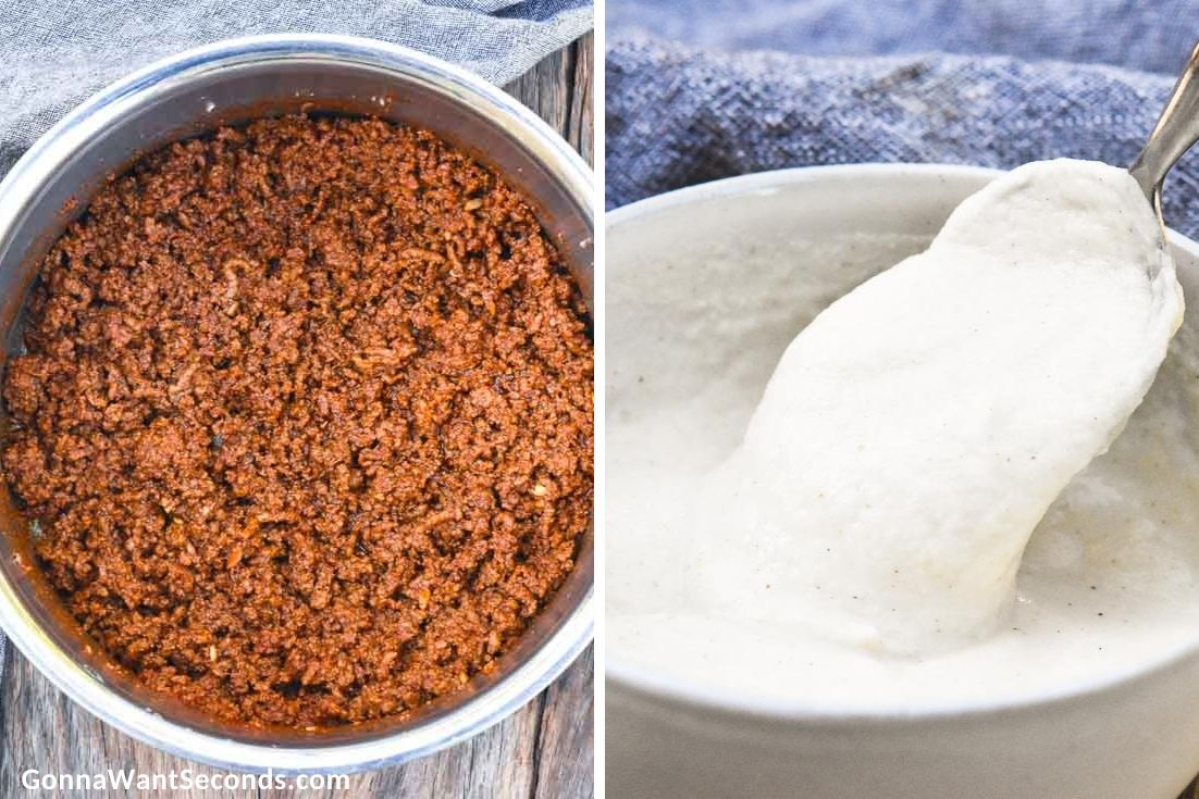 How to make Pioneer Woman Chili, beef mixture and masa harina