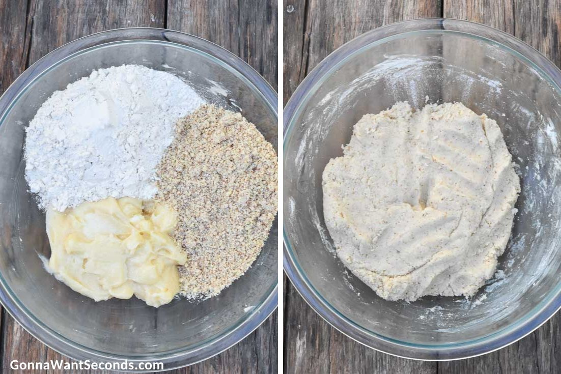 How to make Vanillekipferl, ingredients for the dough