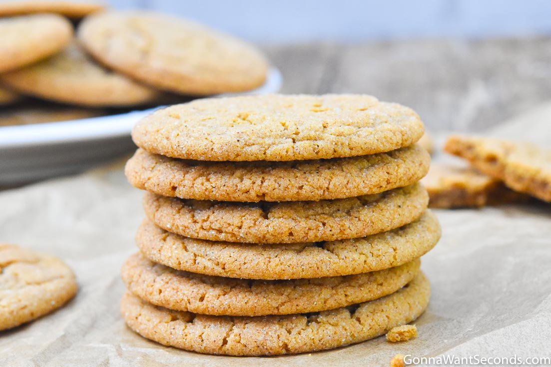 Gingersnap Cookies stack on top of each other