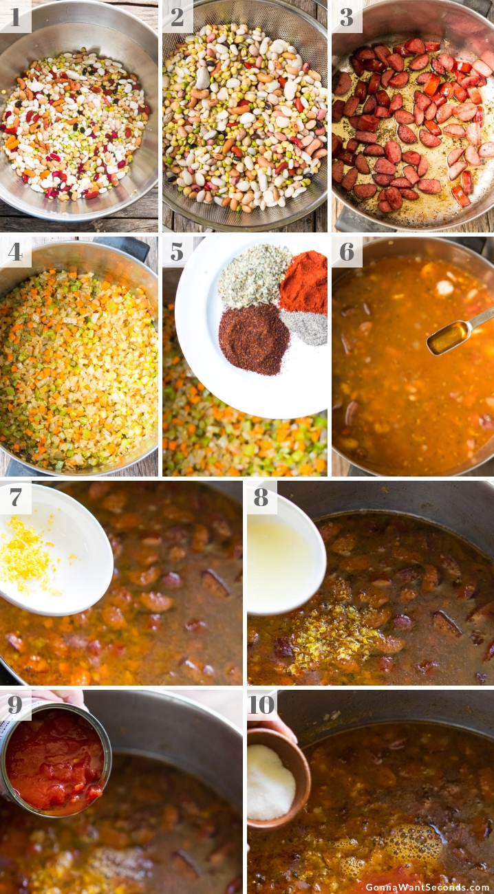 Step By Step How To Make 15 Bean Soup