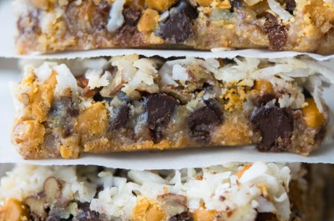 7 Layer Bars stacked on top of each other