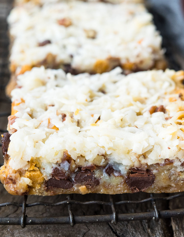 7 Layer Bars on cooling rack