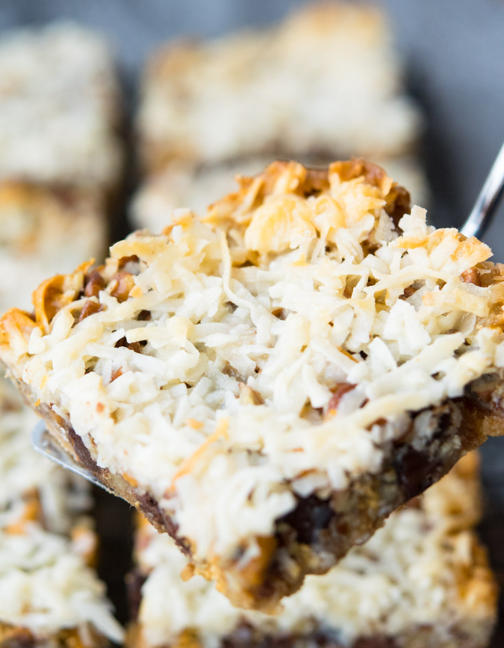 Layer Bars on a serving spatula