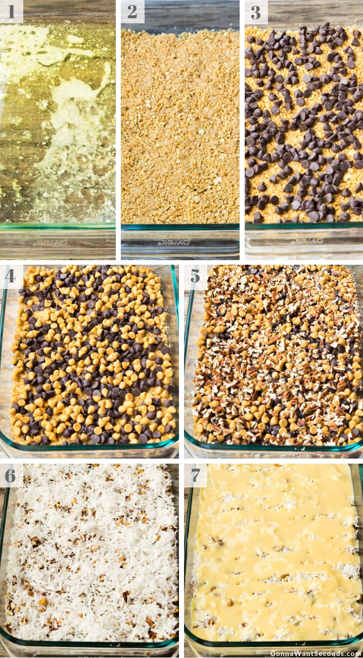 Step By Step How To Make 7 Layer Bars