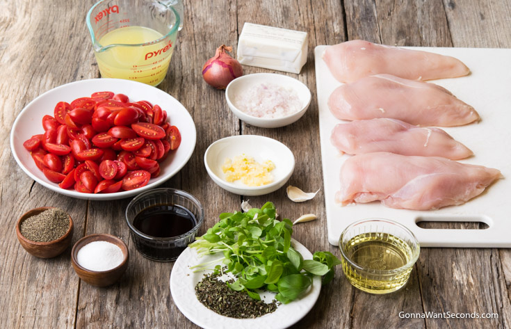 Prepare Ingredients for Balsamic Chicken