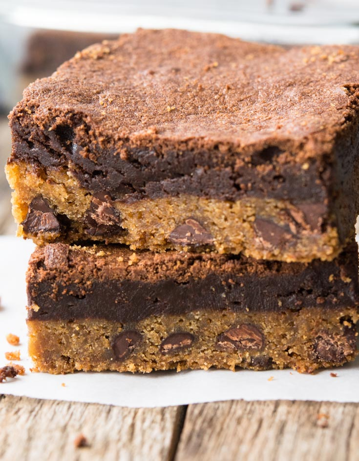 Brookie Bars stack on top of each other
