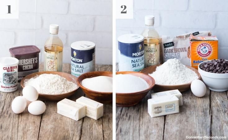 Prepared Ingredients for Brookie Bars
