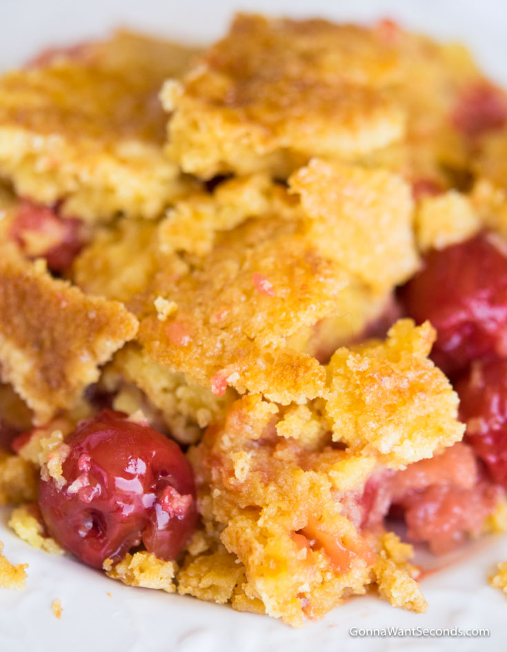 Cherry Pineapple Dump Cake- Just 5 Ingredients!