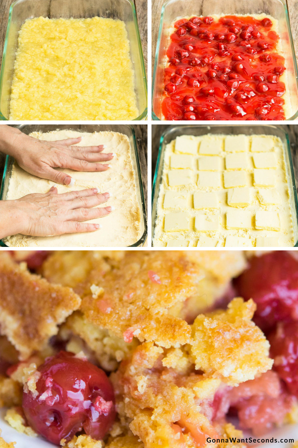 Step By Step How To Make Cherry Pineapple Dump Cake