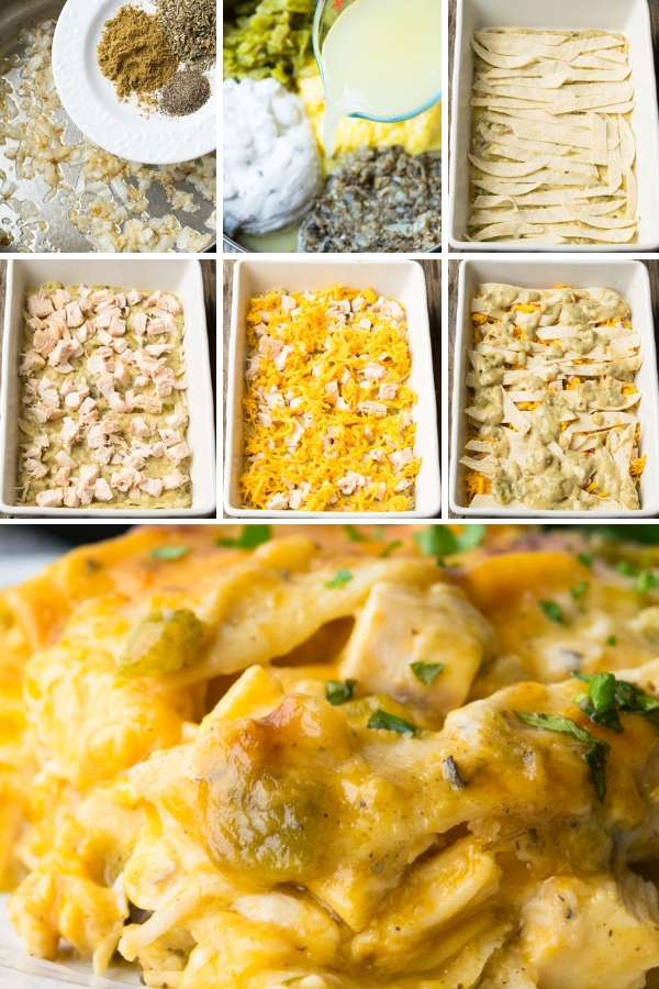 Step By Step How To Make Chicken Tortilla Casserole