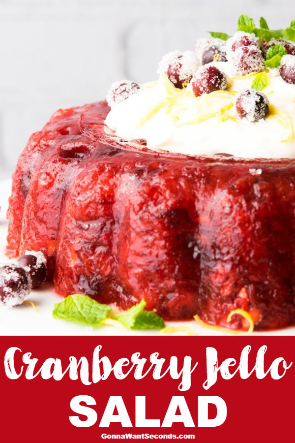 Our Cranberry Jello Salad Is Sweet And Tart With An Amazing Creamy Topping. This Perfect Holiday Treat Might Create A Stampede To The Table! #CranberryJelloSalad #Cranberry