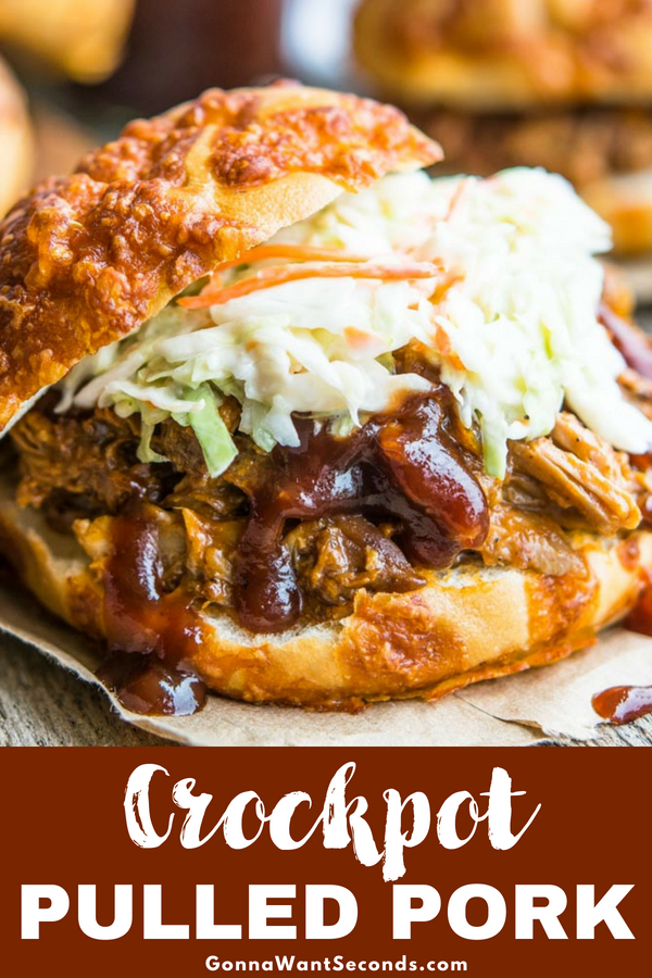 Our Crockpot Pulled Pork recipe is the perfect combo of BBQ flavor, great spice, and simple prep. Your family will LOVE this second-to-none BBQ style feast! #Crockpot #Pulled #Pork #Easy #BBQ #Best #Sandwiches #SlowCooker #Shoulder #ForACrowd #Recipes #Roast #BrownSugar #Beer #Ale #DryRub #ChickenBroth #Party #Coleslaw #WithOnions #Dinners #Meat