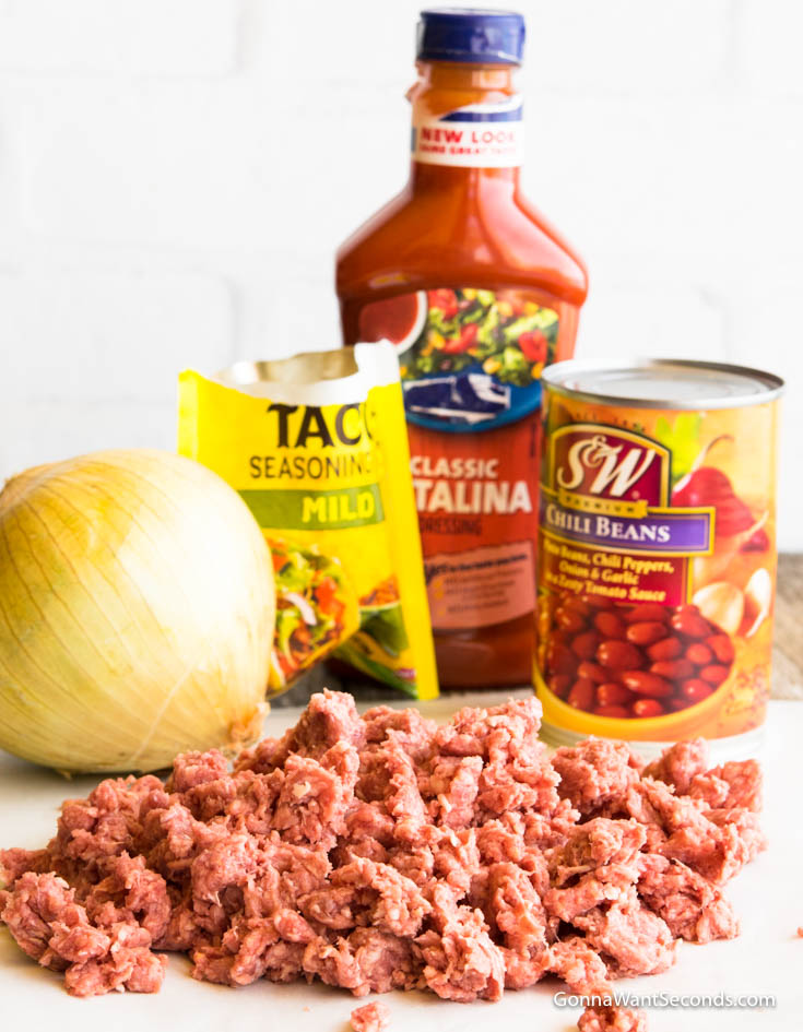 Ingredients for Dorito Taco Salad