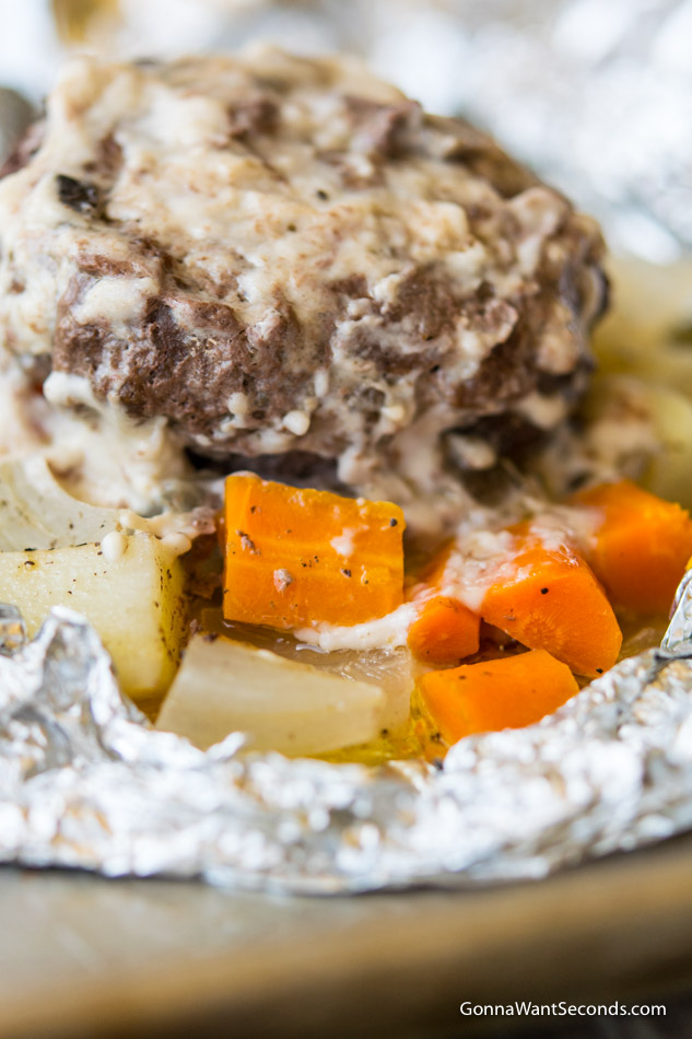 Hobo Dinner Beef Potatoes Onions Carrots And A Creamy