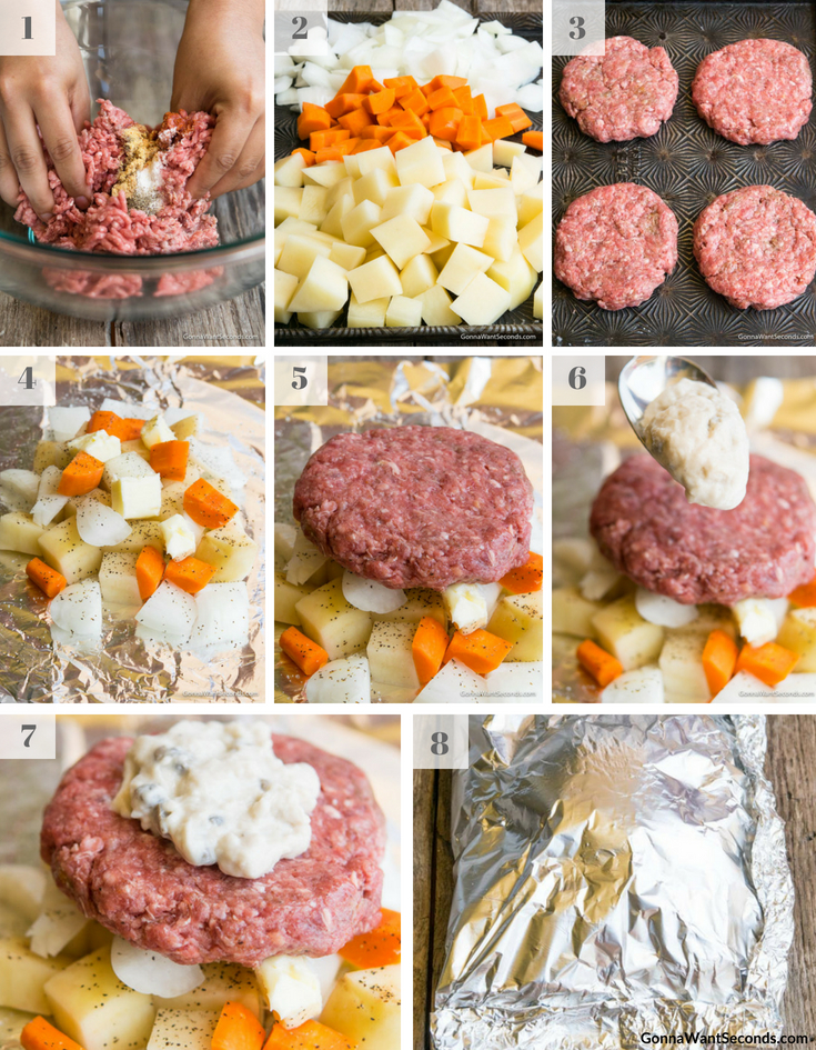 Step By Step How To Make Hobo Dinner