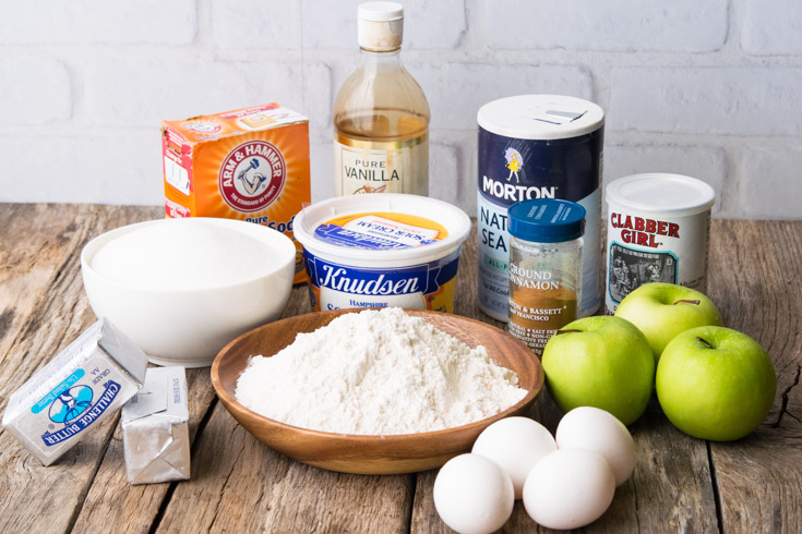Prepared Ingredients for Apple Coffee Cake