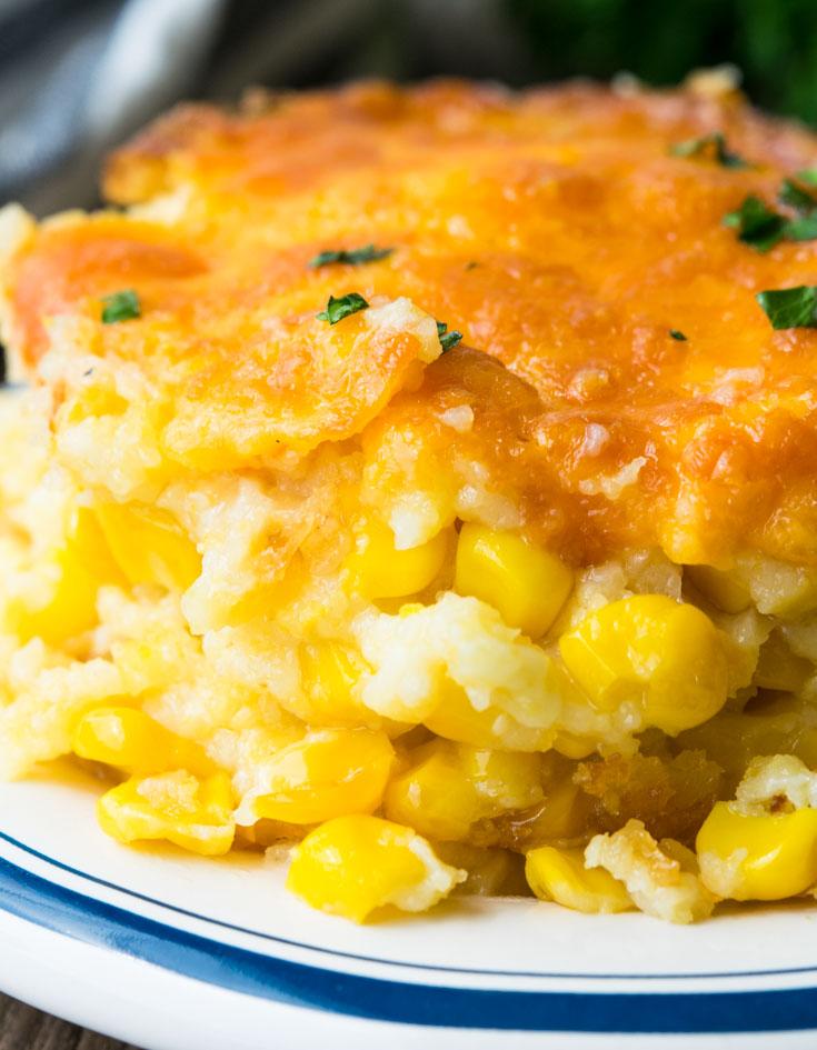 Paula Deen Corn Casserole-Crazy Delish Creamy Custard Corn Casserole