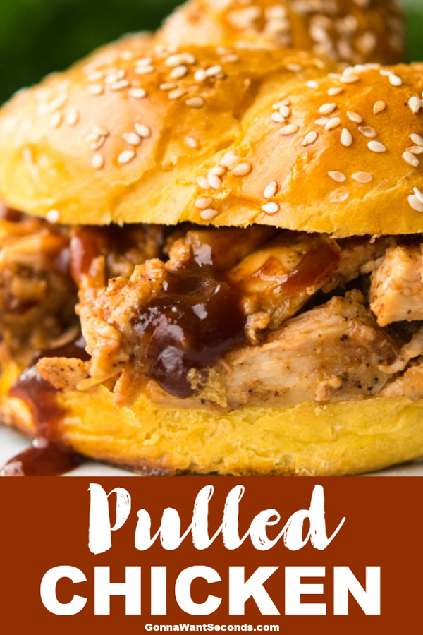 Our pulled chicken slow cooker recipe is super easy with a sweet and spicy tang that makes the perfect weeknight meal time and time again. #Pulled #Chicken #Crockpots #CrockpotRecipes #Sandwiches #SlowCooker #Meals #HowToMake #ChickenBreast #Dinner #Barbeque #Best #Sweet #Spicy #Baked #Sauce #Grill #Salad #Easy #Taco #Recipe