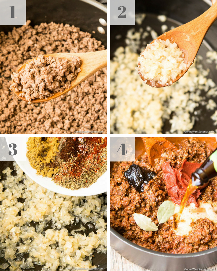 Step By Step Process How To Make Texas Chili