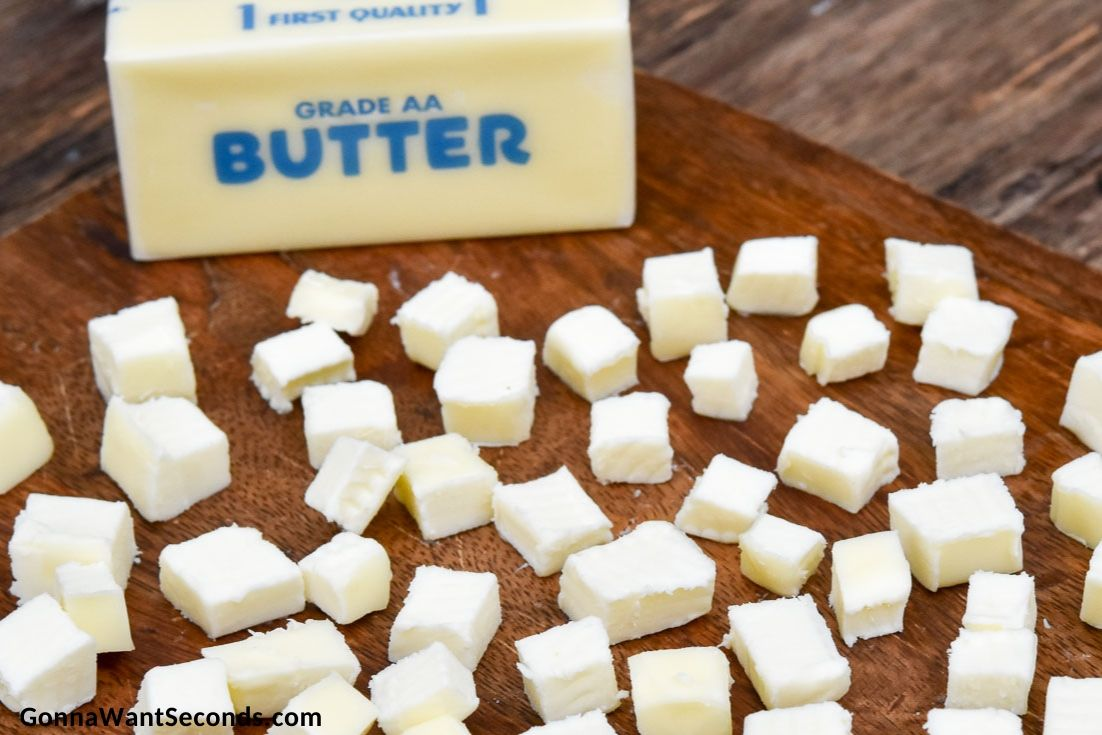How To Make Bisquick biscuit recipe, cutting butter into small cubes