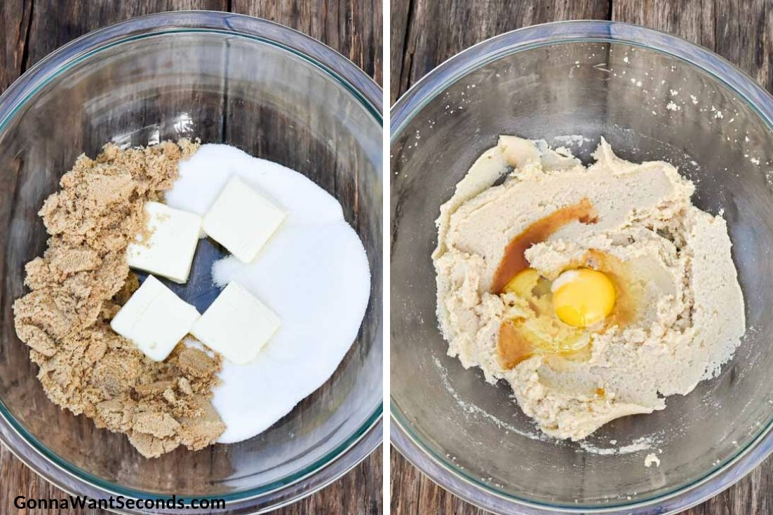 How to make Bisquick chocolate chip cookies, mixing the ingredients