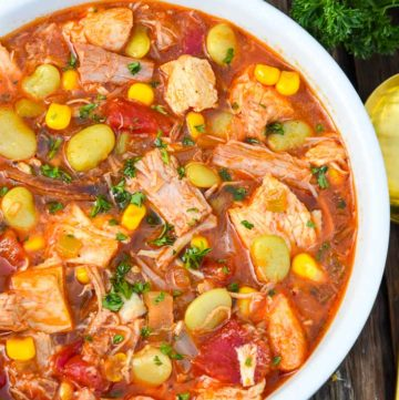 Brunswick stew in a bowl
