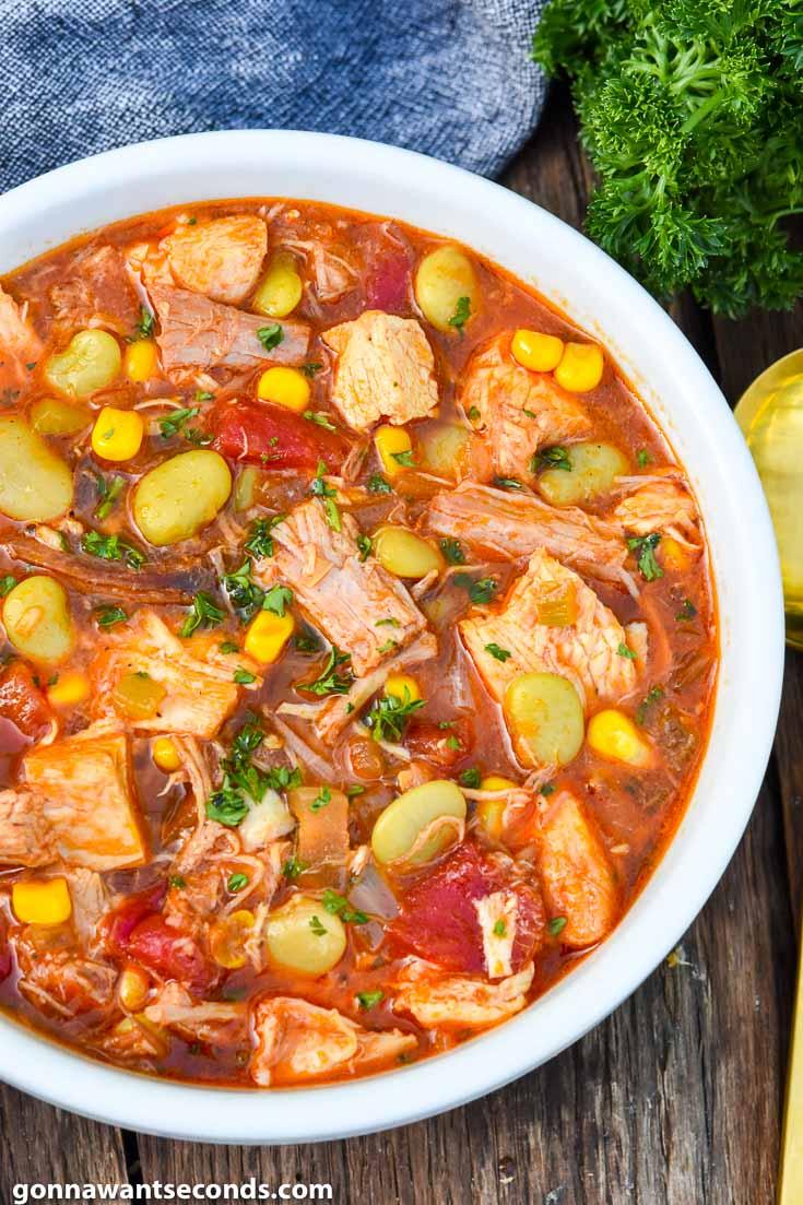 Brunswick stew in a bowl
