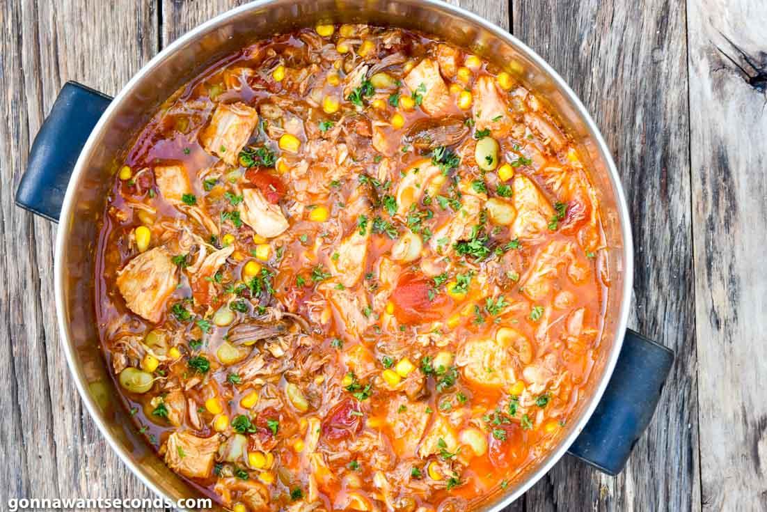 Brunswick stew in a pot