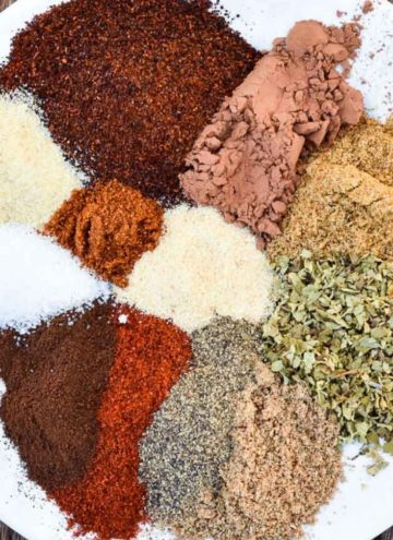 Chili Seasoning ingredients on a plate