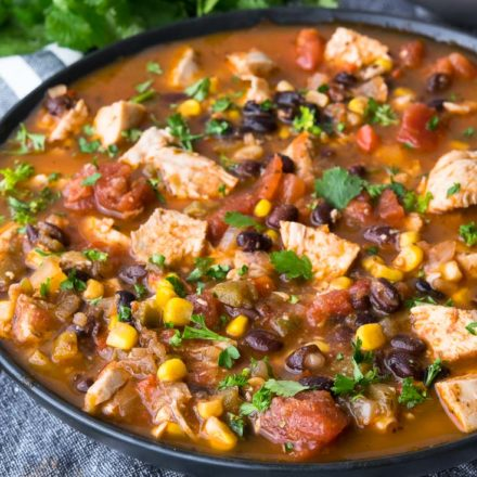 Mexican Chicken Soup in a bowl