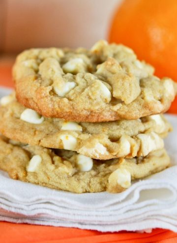 Orange Creamsicle Cookies stack on top of each other