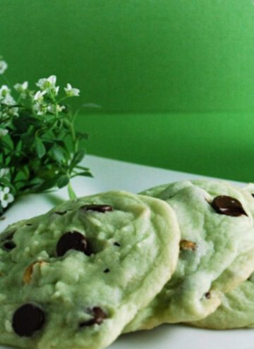 Pistachio Cookies on a plate