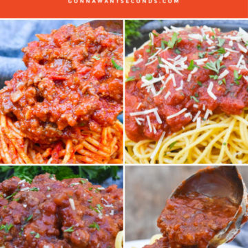 spaghetti sauce recipes collage