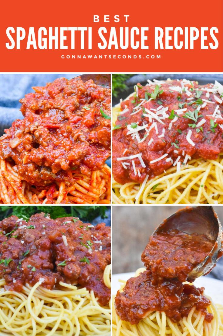 spaghetti sauce recipes collage