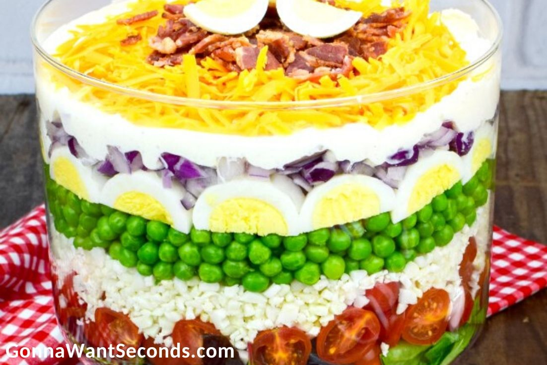 Easter Side Dishes, 7 Layer Salad