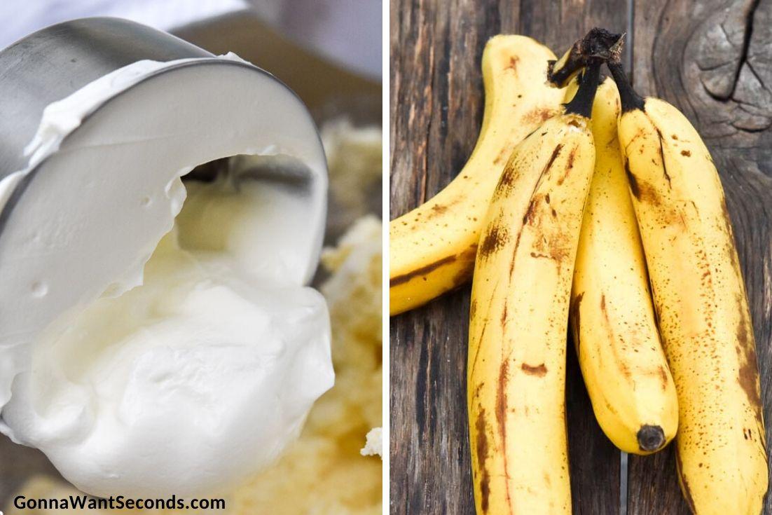 How to make Banana Pound Cake, adding sour cream