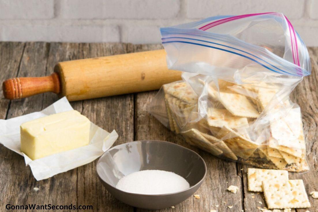 How to make Atlantic Beach Pie, prepated ingredients for pie crust