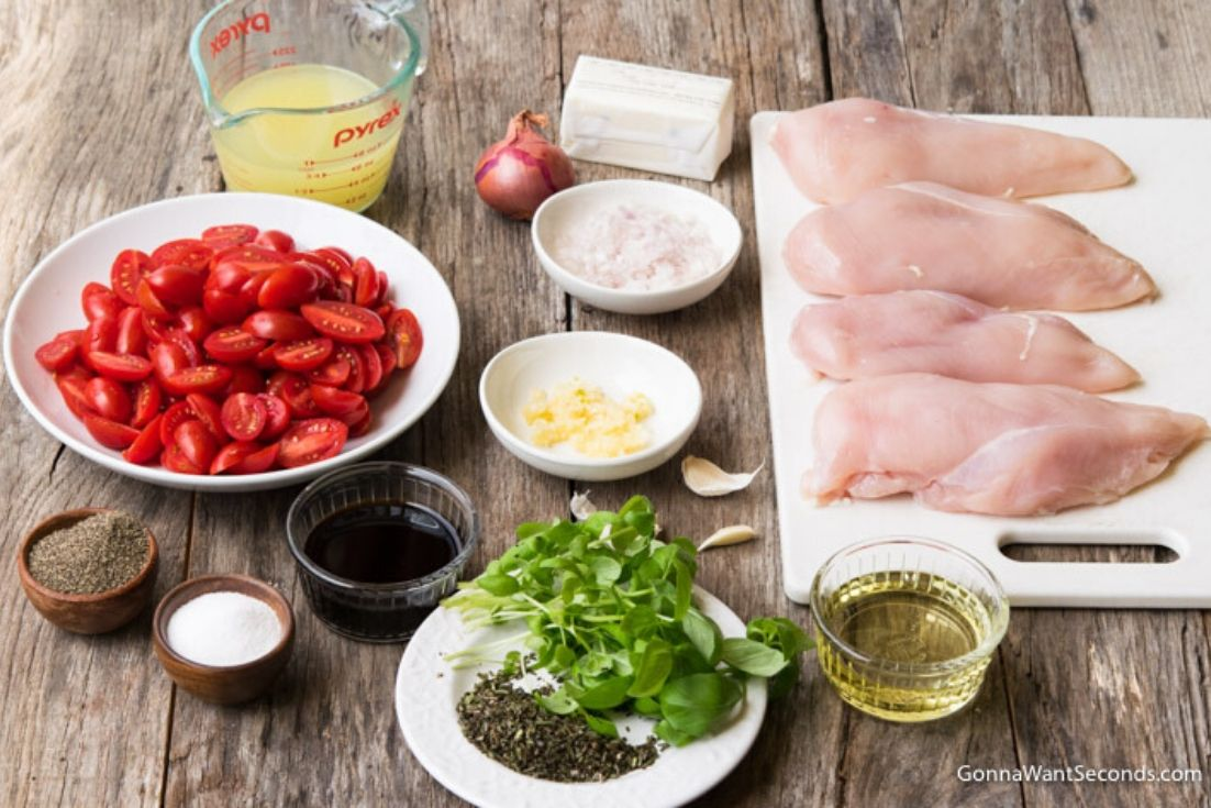 How to make Balsamic Chicken, prepared ingredients