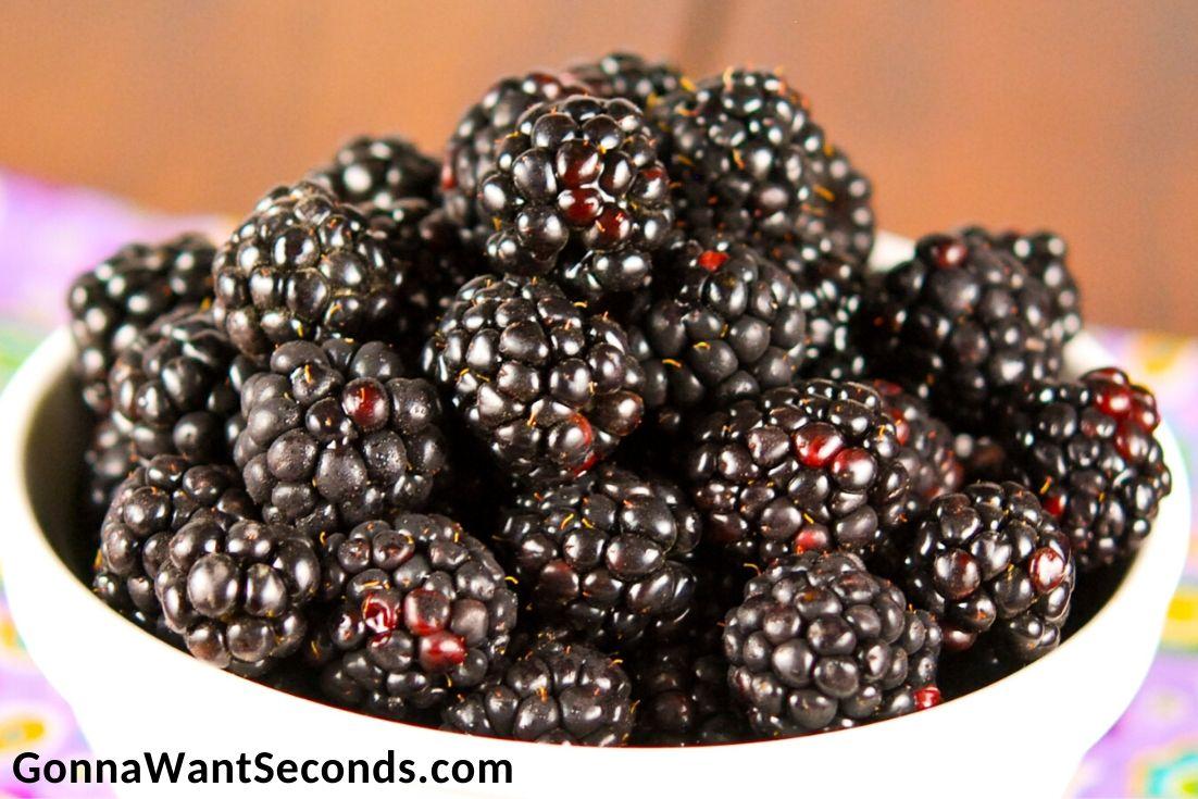 fresh blackberries in a bowl