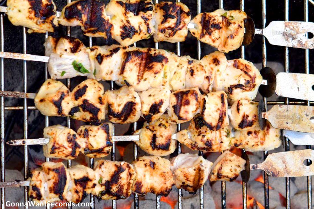 Grilling chicken gyro