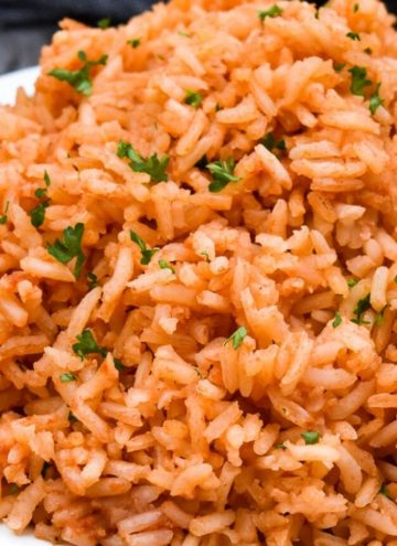 Mexican rice on a plate