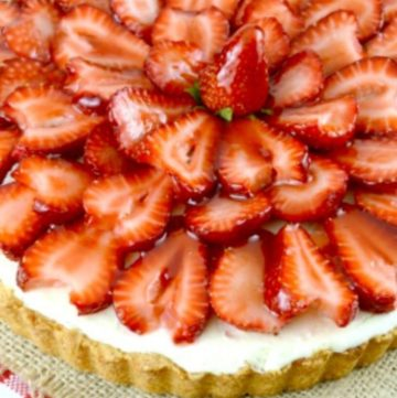 Strawberry Tart on a table