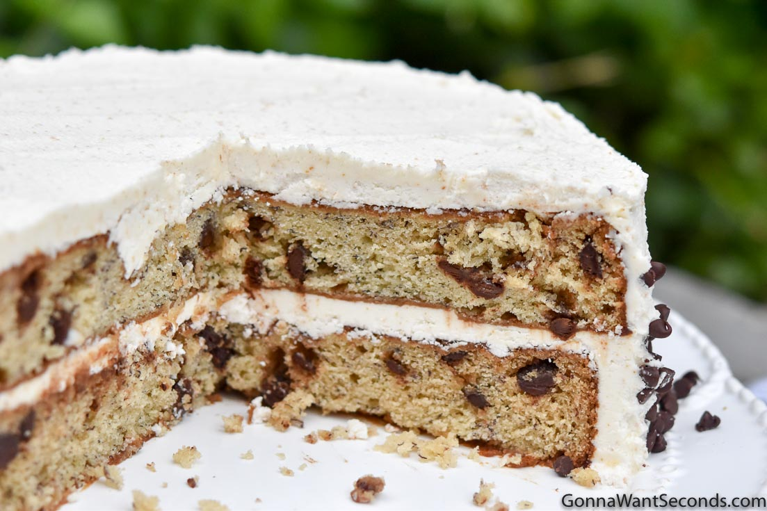 Whole Banana Chocolate Chip Cake With Brown Butter Frosting
