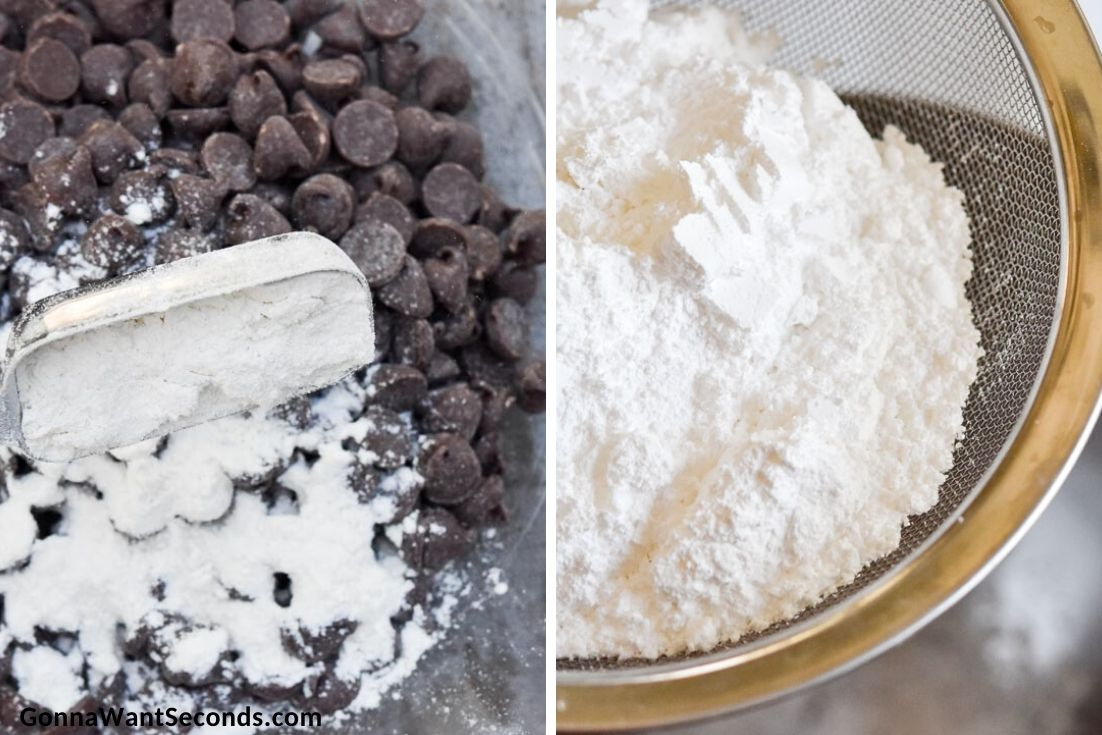 How to make Banana Chocolate Chip Cake, chocolate chips and sifting flour